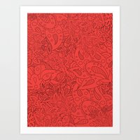 Lucy Flowers Art Print
