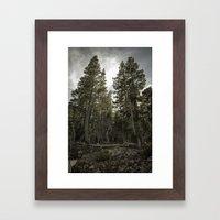 Monster Trees Framed Art Print