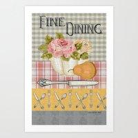 Fine Dining Art Print