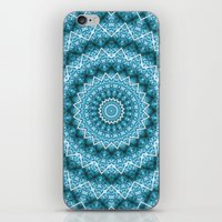 Light Blue Kaleidoscope / Mandala iPhone & iPod Skin