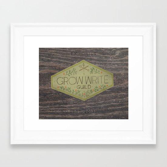 Grow Write Guild Seal Framed Art Print