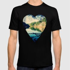 Lost Lake Love Black SMALL Mens Fitted Tee
