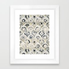 Monochrome Art Deco Marble Tiles Framed Art Print