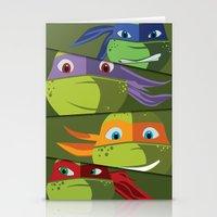 Teenage Mutant Ninja Turtles Vector Art Stationery Cards