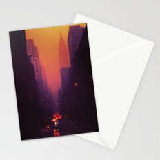 42nd Street, NYC - The Chrysler Building at Sunset Stationery Cards
