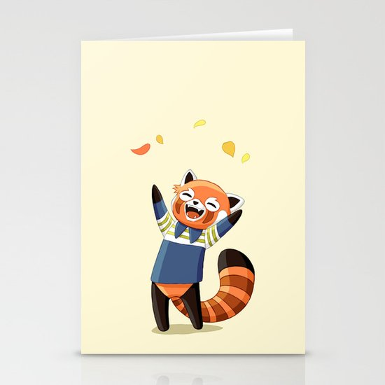 Red Panda 2 Stationery Card