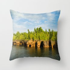 Sea caves #7 Throw Pillow