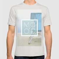 MOOD Mens Fitted Tee Silver SMALL