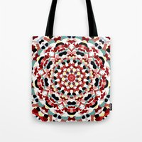 Mandala Number 4 - Squar… Tote Bag