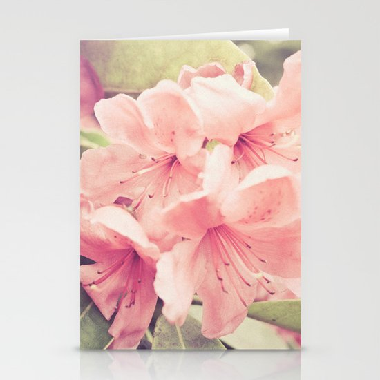 pink flowers Stationery Card