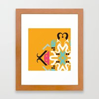 Orange Arabic Framed Art Print