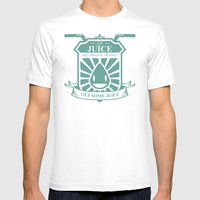 Juice Badge Mens Fitted Tee White SMALL