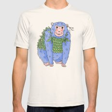 Peachtree The Chimp in Blue Mens Fitted Tee Natural SMALL