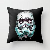 Monster Trooper Throw Pillow