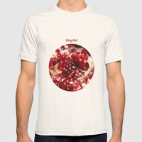 Pomegranate  Mens Fitted Tee Natural SMALL
