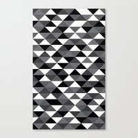 Triangle Pattern #4 Canvas Print