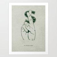 In Cash We Trust. Art Print