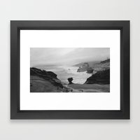 Dark Coastal Days Framed Art Print
