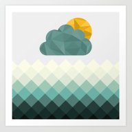 Sea Polygons Art Print