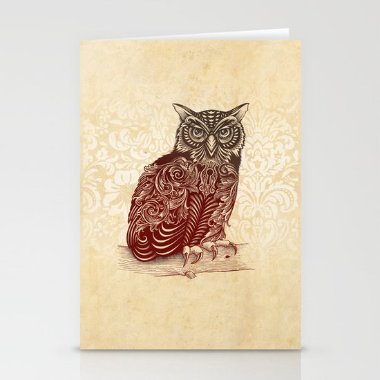 Most Ornate Owl Stationery Card
