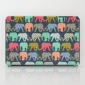 baby elephants and flamingos iPad Case