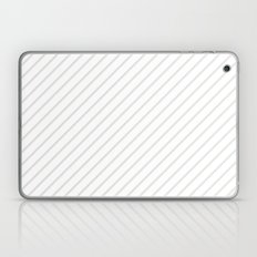 Diagonal Lines (Platinum/White) Laptop & iPad Skin