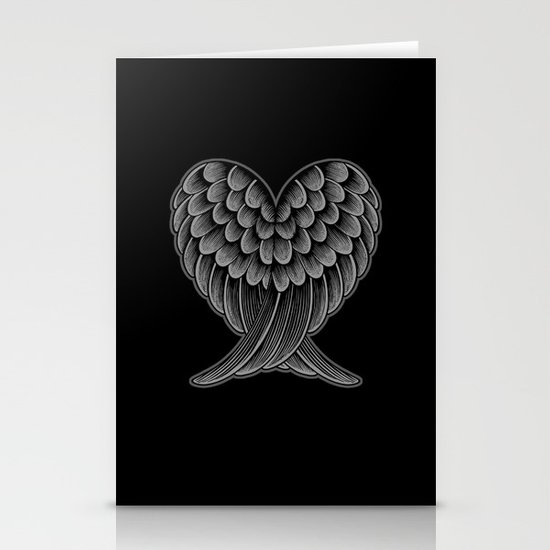 Heart Wings [Reversed Version] Stationery Card