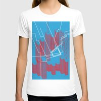 Chicago EL Train Womens Fitted Tee White SMALL