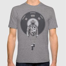 DJ HAL 9000 Mens Fitted Tee Tri-Grey SMALL