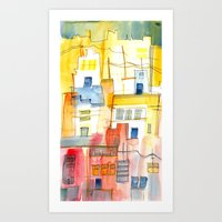 Morning In The Village 2 Art Print