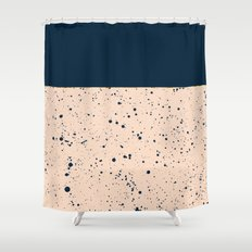 XVI - Dark Blue Shower Curtain