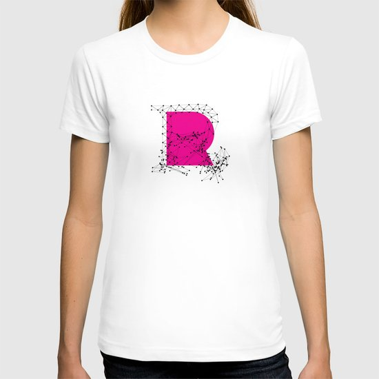 R (abstract geometrical type) T-shirt