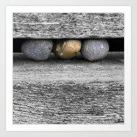 Cromer Pebbles Art Print