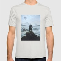 Homage To Caspar David F… Mens Fitted Tee Silver SMALL