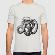 The Snake Mens Fitted Tee Silver SMALL