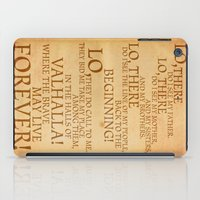 Viking Prayer iPad Case