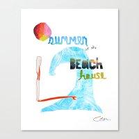 Summer At The Beach Hous… Canvas Print