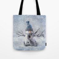 Cute Snowman Frozen Free… Tote Bag