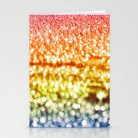 glitter Stationery Cards featuring Rainbow Glitter Sparkles by WhimsyRomance&Fun