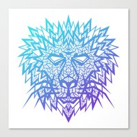 Heart Of A Lion Canvas Print