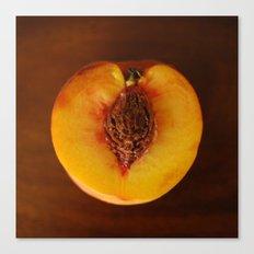 Peach Heart Canvas Print