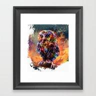 Brave Little Owl Framed Art Print