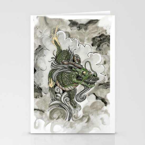 Dragon of The Mist Stationery Card