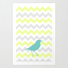 Chevron & On & On Art Print