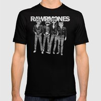 RAWRMONES Mens Fitted Tee Black SMALL