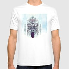 SymmeTREE White Mens Fitted Tee SMALL