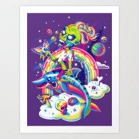 Rainbow Apocalypse Art Print