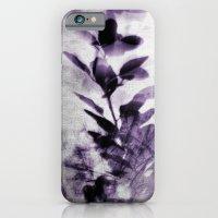 purple leaves iPhone 6 Slim Case