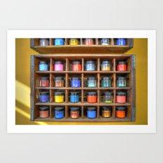 Pigments Art Print