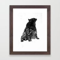 Wild Thing In The Woods Framed Art Print